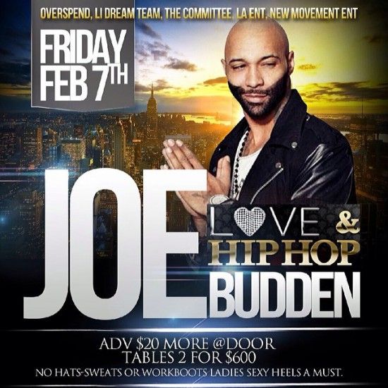 2014.02.08 - Joe Budden at Love & hip hop