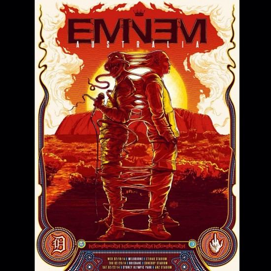 2014.02.13 - Australia Eminem Rapture 2014 Poster