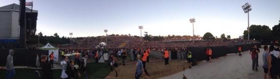 2014.02.14 - 05 Western Springs. Rapture 2014 crowd. J. Cole on stage