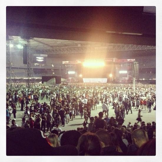 2014.02.19 - 15 Rapture 2014 Eminem Австралия Мельбурн. Подготовка сцены для Эминема