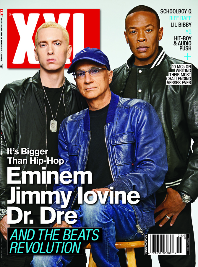 2014.02.19 - Eminem, Dr. Dre & Jimmy Iovine Cover XXL April May Issue