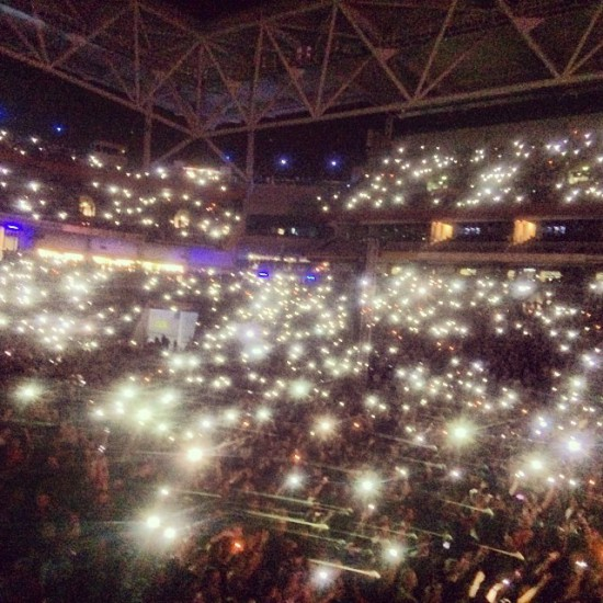 2014.02.20 - 31 Brisbane Australia, Rapture 2014 Suncorp Stadium Eminem Rosenberg - A sky full of lighters in Brisbane