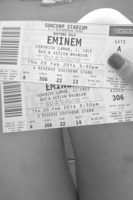 2014.02.20 - 63 Eminem Brisbane Australia, Rapture 2014 Suncorp Stadium
