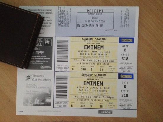 2014.02.20 - 67 Eminem Brisbane Australia, Rapture 2014 Suncorp Stadium