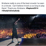 2014.02.20 - 68 Eminem Brisbane Australia, Rapture 2014 Suncorp Stadium