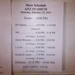 2014.02.22 - 00 - Eminem Rapture 2014 Sydney Australia, ANZ Stadium Расписание концерта