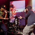 Eminem and 50 Cent at Shady 2.0 SXSW Showcase