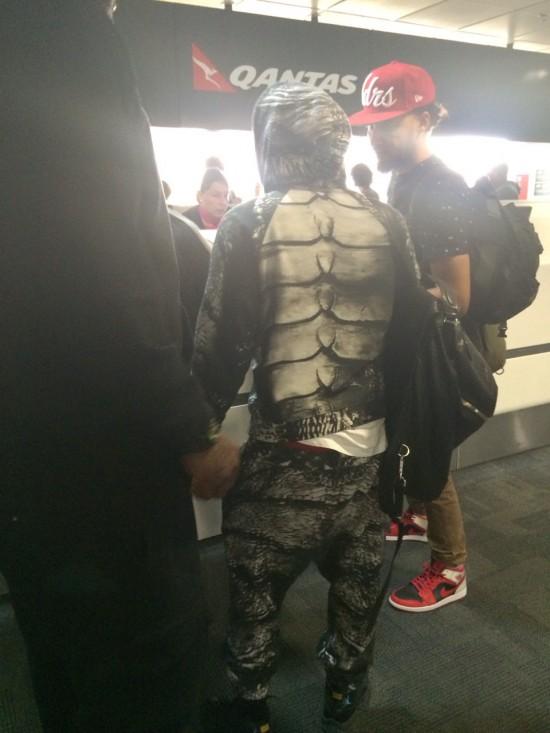 Kendrick Lamar 20 февраля 2014 в аэропорту города Брисбен, Австралия