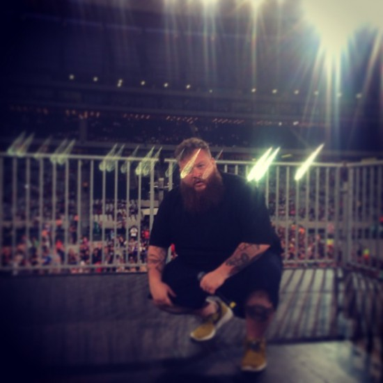2014.01.26 - Eminem Rapture 2014 Cape Town 04 - Action Bronson surveys the crowd mid-set in Cape Town