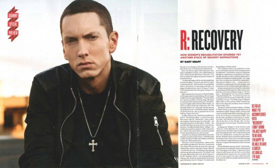 Jeremy Deputat 2011.03 - EMINEM SHOT FOR BILLBOARD March 2011