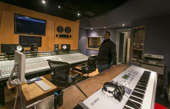 General manager Scott Guy stands in the 'blue room' at 54 Sound, a four-building complex with multiple studios, mixing rooms and a video production berth. The studio does steady business with gospel, rock and R&B projects. / Jarrad Henderson/Detroit Free Press