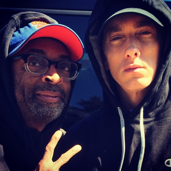 2014.04.07 - Detroit's Finest EMINEM And Me Working Together On His Short a Film.Historic. Who Woulda Thunk It. Spike Lee Headlights