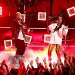 13 апреля 2014 года Eminem и Rihanna выступают с синглом The Monster в Лос-Анджелесе на MTV Movie Awards 2014