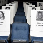 'Monster' stars Rihanna and Eminem have monster front row seats at this year's show. Can't wait to see what this star studded row looks like in real life.