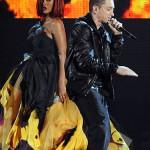 Eminem, Rihanna, Dr. Dre and Skylar Grey at the 2011 Grammy Awards