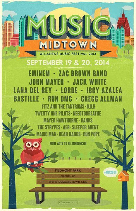 2014.06.24 - Eminem Heading to Atlanta for the Music Midtown Festival on September 19 & 20