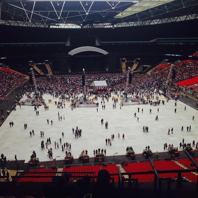 Eminem Стадион Уэмбли 11 июля 2014