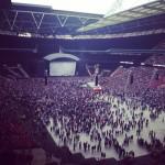 Eminem performing at Wembley Stadium   11.July.2014