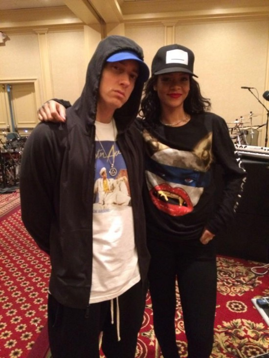 2014.07.30 - Eminem и Rihanna на репетиции The Monster Tour