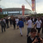 @wembleystadium with my boy to see #EminemWembley Hoping to see the legend himself