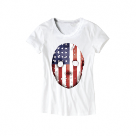 Eminem HOCKEY_MASK_SHIRT-05 Emdependence Day Women's T-Shirt (White)