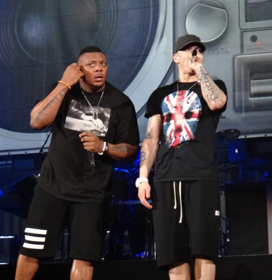 Eminem and Mr. Porter Wembley Stadium 12.07.2014