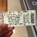 Eminem Rihanna The Monster Tour MetLife Stadium 17-08-2014 Билет на концерт