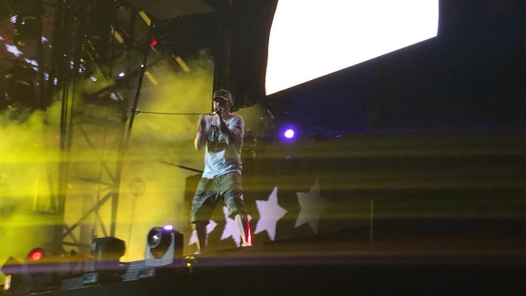 Eminem Comerica Park Detroit The Monster Tour 22 августа 2014