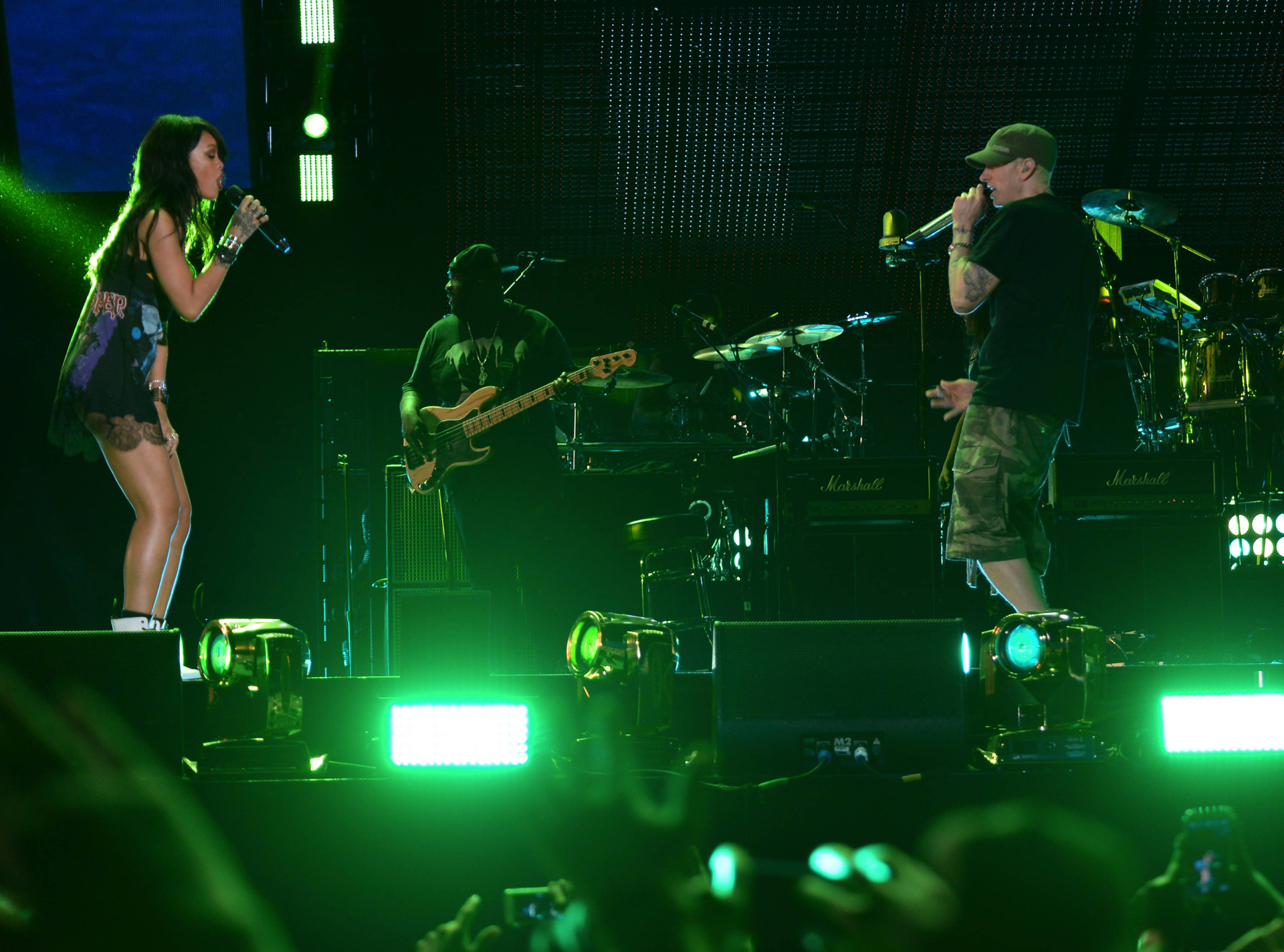 Eminem and Rihanna at The Monster Tour (Rose Bowl)