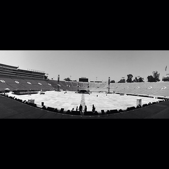 Sound check! Rose Bowl the monster tour