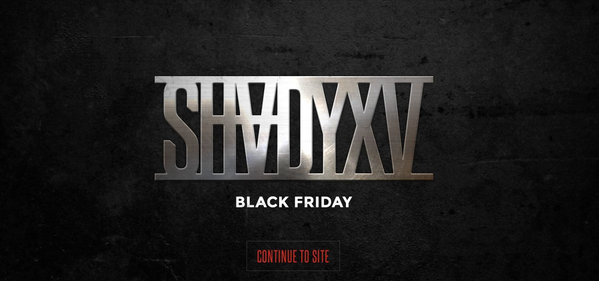 Shady XV Black Friday 2014