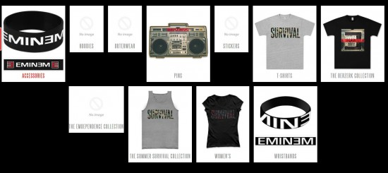 Eminem and Shady Records Back to School Sale. All t-shirts are just $10 – accessories are $5.  Shop now.