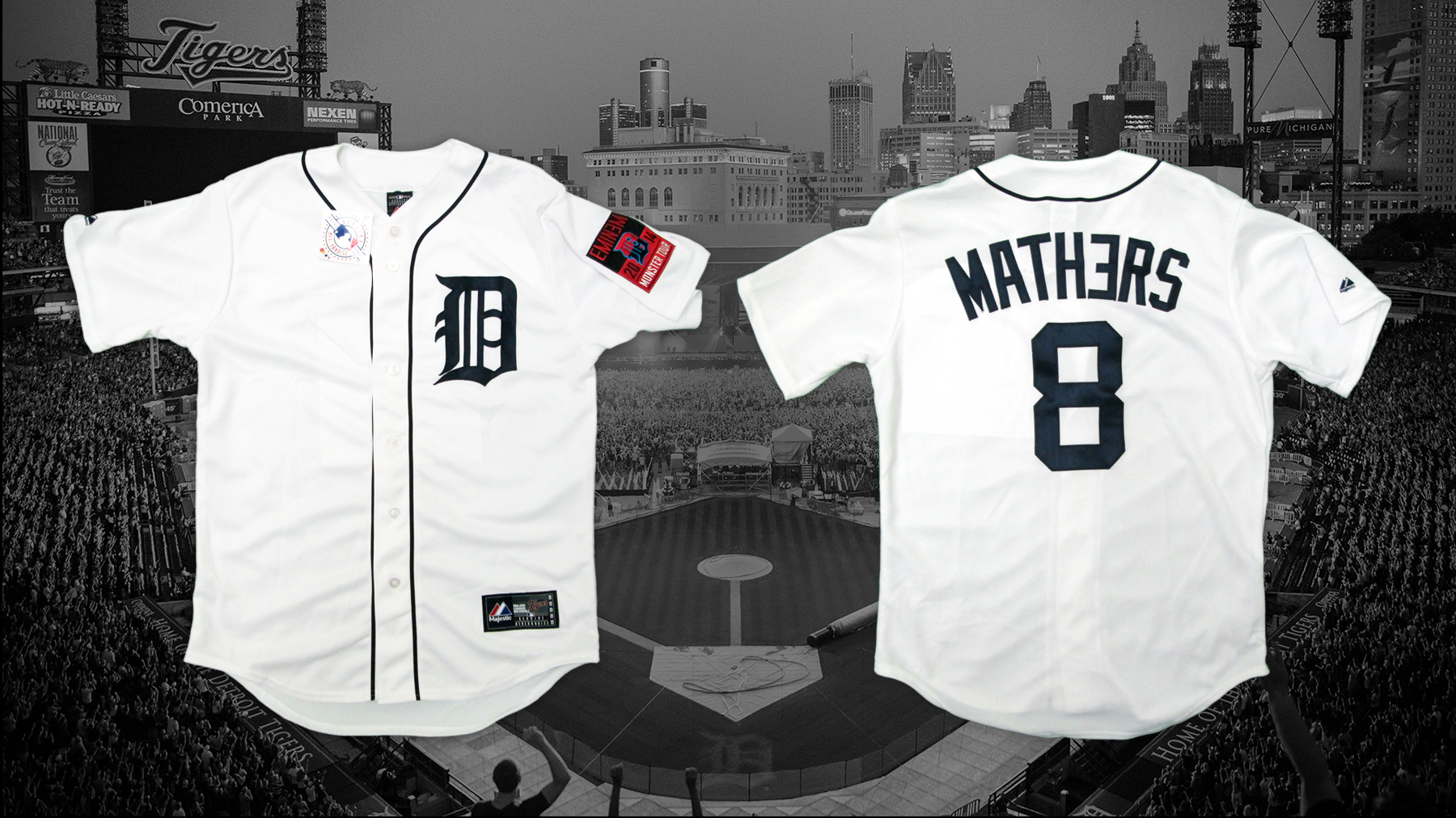 Eminem X Detroit Tigers Official Fitted Cap