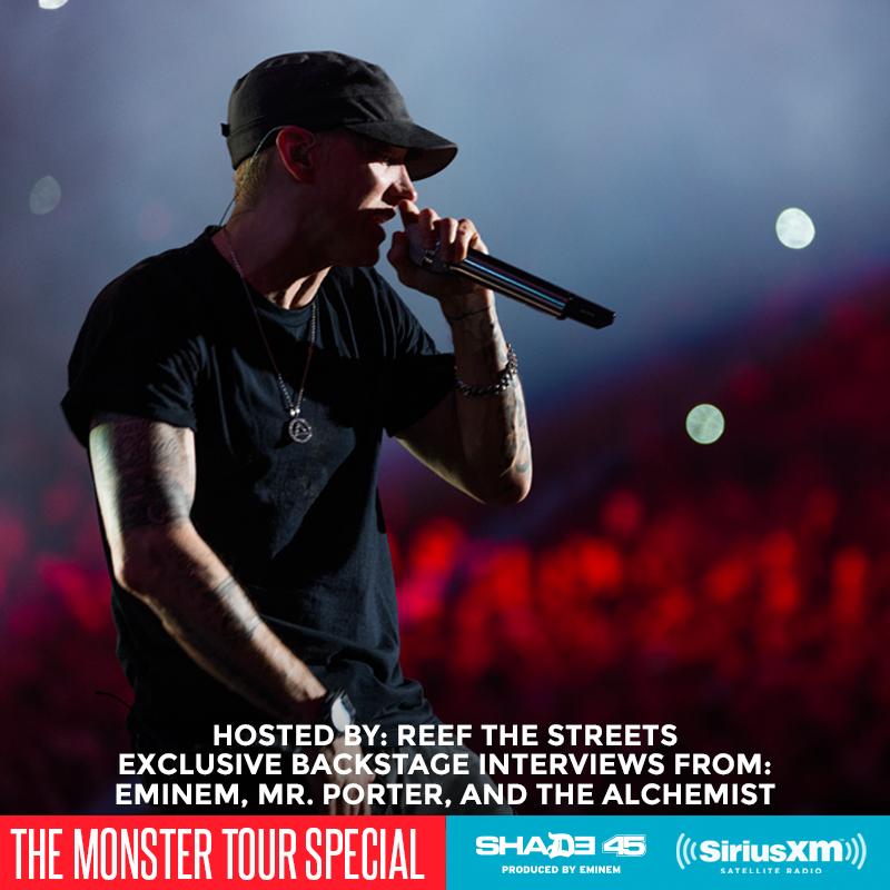 Эксклюзивное закулисное интервью с Eminem, Mr.Porter и The Alchemist дали интервью за кулисами The Monster Tour
