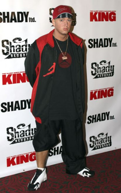 Eminem for Shady Records and KING Magazine in Jordan Black Toe XIV