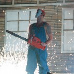 Eminem A Chainsaw And Jason Mask