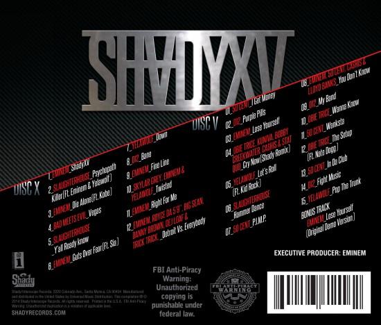 Лейбл Shady Records анонсировал официальный трек-лист альбома «SHADYXV»