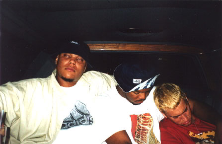 Eminem 1999 / DJ Head / Denine / Em after partying in NYC.
