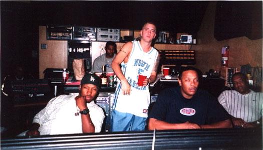 Mel-Man / Eminem / Dr. Dre в студии