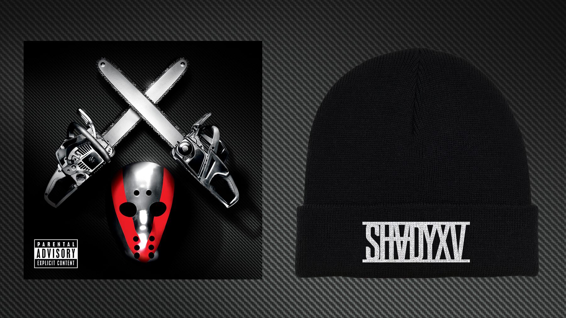 Eminem SHADYXV PRE-ORDER 2 DISC CD AND BEANIE