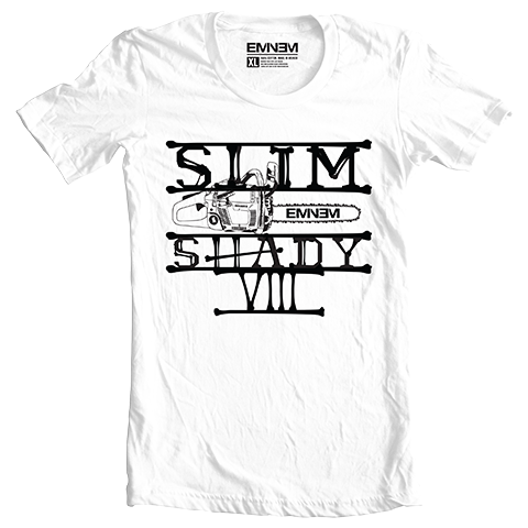 Eminem CHAINSAW T-SHIRT (WHITE)