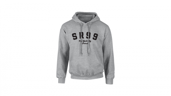 SR99 Hoodie - Black on Heather Gray