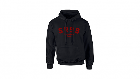SR99 Hoodie - Red on Black