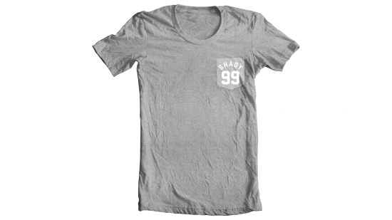 Shady 99 T-Shirt - White on Gray