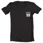 Shady 99 T-shirt - White on Black