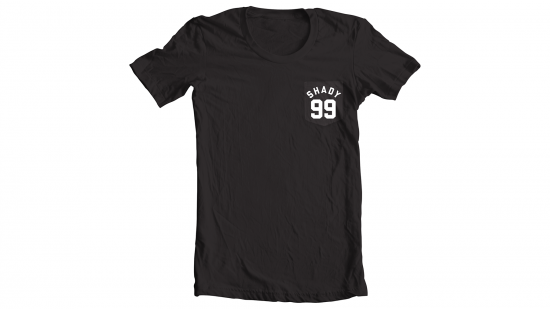 Shady 99 T-shirt - White on Black
