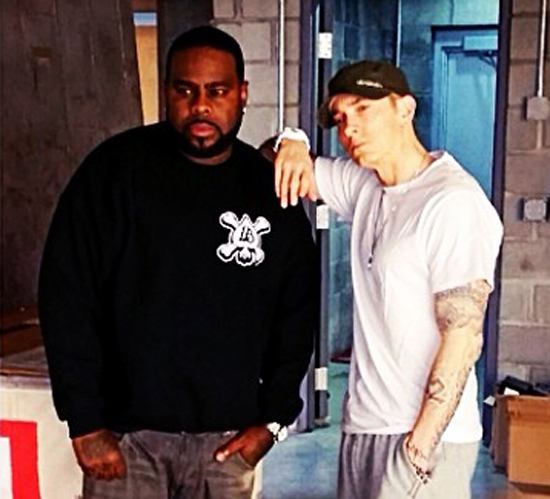 2014.05.15 - Eminem woth Crooked I at Studio (Detroit) 4