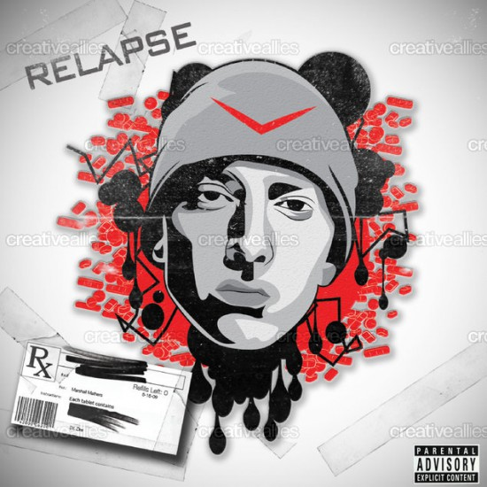 Design contest Relapse Cover for Eminem Album by xTwest