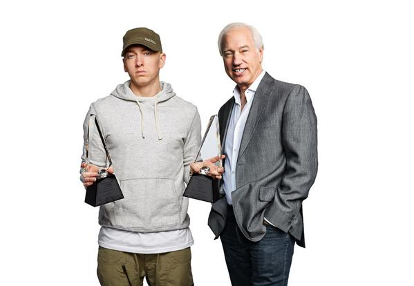 2015.06.16 - Eminem the only artist in RIAA Gold Platinum history to earn 2 Digital Diamond Awards