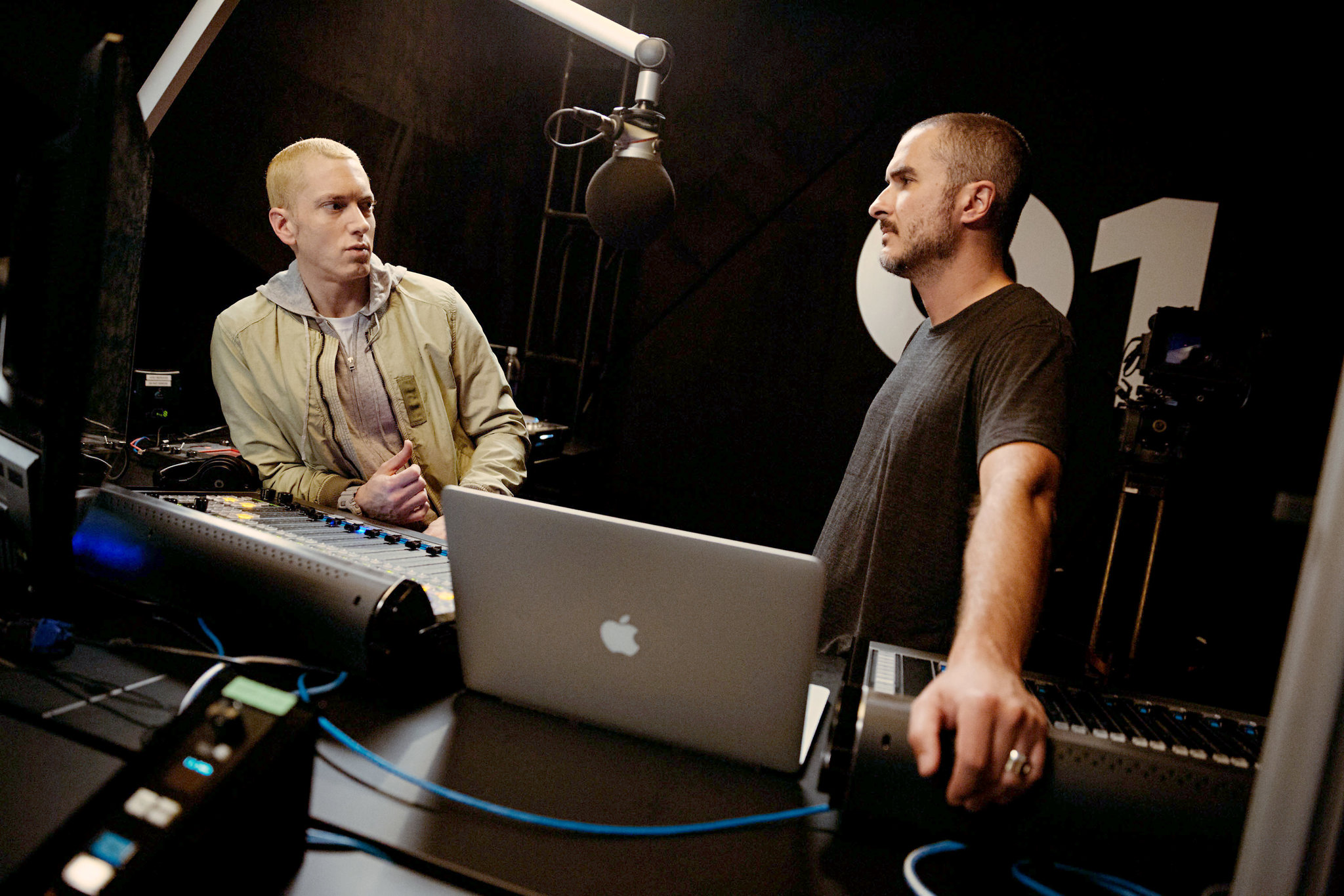 2015.06.26 - Eminem, left, with Mr. Lowe. Credit Jeremy Deputat